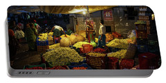 Portable Battery Charger featuring the photograph Koyambedu Chennai Flower Market Predawn by Mike Reid