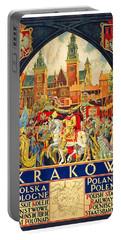 Krakow Poland - Vintage Travel Poster Portable Battery Charger