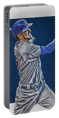 Kris Bryant Chicago Cubs Art 3 Portable Battery Charger