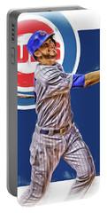 Kris Bryant Chicago Cubs Oil Art Portable Battery Charger by Joe Hamilton