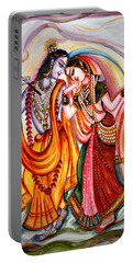 Krishna And Radha Portable Battery Charger by Harsh Malik