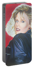 Portable Battery Charger featuring the painting Kristi Sommers by Bryan Bustard
