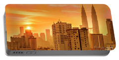 Kuala Lumpur Twin Towers Portable Battery Charger by Charuhas Images