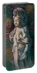 Kuan Yin Dragon Portable Battery Charger by Sue Halstenberg