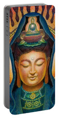 Kuan Yin Flame Portable Battery Charger by Sue Halstenberg