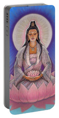 Kuan Yin Portable Battery Charger by Sue Halstenberg