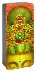 Kuan Yin's Buddha Crown Portable Battery Charger by Sue Halstenberg