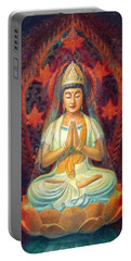 Kuan Yin's Prayer Portable Battery Charger by Sue Halstenberg