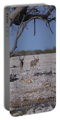Portable Battery Charger featuring the photograph Kudu And Springbok 2 by Ernie Echols