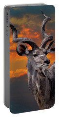 Kudu At Sunset Portable Battery Charger