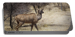 Portable Battery Charger featuring the photograph Kudu Crossing by Ernie Echols