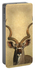 Kudu Portable Battery Charger by James W Johnson