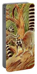 Kuhnert, Friedrich Wilhelm 1865-1926 - Wild Life Of The World 1916 V.3 Ring-tailed Lemur Portable Battery Charger