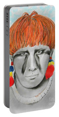 Kuikuro From Brazil -- Portrait Of South American Tribal Man Portable Battery Charger