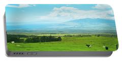 Kula Upcountry Maui Hawaii Portable Battery Charger by Sharon Mau