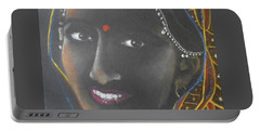 Kumkuma -- Close-up Portrait Of Indian Woman Portable Battery Charger