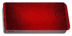 Portable Battery Charger featuring the digital art Kuna Indian Sun Heat Rays by Vagabond Folk Art - Virginia Vivier
