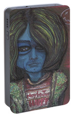 Portable Battery Charger featuring the painting Kurt Cobalien by Similar Alien