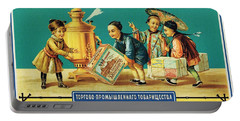 Kuznezov And Co - Vintage Russian Tea Advertising Poster Portable Battery Charger