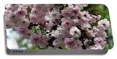 Japanese Cherry Tree Blossoms Highland Park Rochester Ny Watercolor Effect Portable Battery Charger