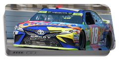 Kyle Busch Coming Out Of Turn 1 Portable Battery Charger