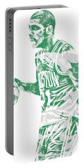 Kyrie Irving Boston Celtics Pixel Art 40 Portable Battery Charger