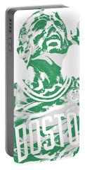 Kyrie Irving Boston Celtics Pixel Art 41 Portable Battery Charger