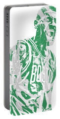 Kyrie Irving Boston Celtics Pixel Art 42 Portable Battery Charger