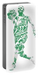 Kyrie Irving Boston Celtics Pixel Art 43 Portable Battery Charger