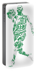 Kyrie Irving Boston Celtics Pixel Art 43 Portable Battery Charger