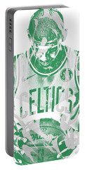 Kyrie Irving Boston Celtics Pixel Art 5 Portable Battery Charger