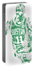 Kyrie Irving Boston Celtics Pixel Art 6 Portable Battery Charger