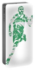 Kyrie Irving Boston Celtics Pixel Art 60 Portable Battery Charger