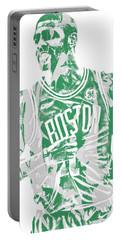Kyrie Irving Boston Celtics Pixel Art 7 Portable Battery Charger