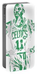Kyrie Irving Boston Celtics Pixel Art 8 Portable Battery Charger