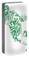 Kyrie Irving Boston Celtics Pixel Art 9 Portable Battery Charger