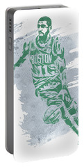 Kyrie Irving Boston Celtics Water Color Art 3 Portable Battery Charger