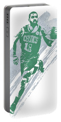 Kyrie Irving Boston Celtics Water Color Art 4 Portable Battery Charger