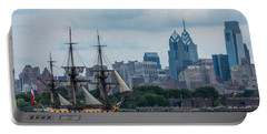 L Hermione Philadelphia Skyline Portable Battery Charger by Terry DeLuco