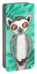 L Is For Lemur And Lark Portable Battery Charger