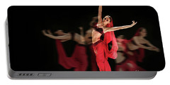 Portable Battery Charger featuring the photograph La Bayadere Ballerina In Red Tutu Ballet by Dimitar Hristov