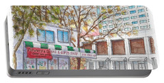 La Bella Flowers, Riverside Dr. And Screenland, Burbank, California Portable Battery Charger by Carlos G Groppa