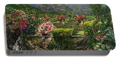 Portable Battery Charger featuring the painting La Belle Vence by Belinda Low