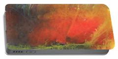 Portable Battery Charger featuring the painting La Caleta Del Diablo by Jackie Mueller-Jones