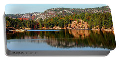 Portable Battery Charger featuring the photograph La Cloche Mountain Range by Debbie Oppermann