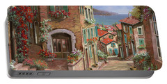 Town Paintings Portable Battery Chargers