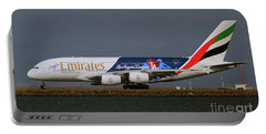 La Dodgers A380 Ready For Take-off At Sfo Portable Battery Charger