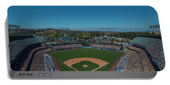 Portable Battery Charger featuring the photograph La Dodgers Stadium Baseball 2087 by David Haskett
