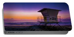 La Jolla Beach Sunset Portable Battery Charger