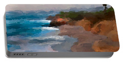Portable Battery Charger featuring the mixed media La Jolla California  by Anthony Fishburne